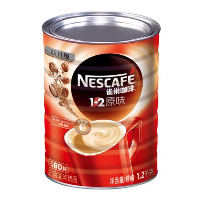 Nestle雀巢1+2原味速溶咖啡1.2kg罐裝 三合一速溶咖啡 雀巢咖啡
