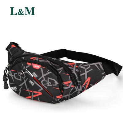 L&M腰包男手機包錢包多功能男士腰包男女通用收銀包腰包女戶外運動包胸包男女通用 腰包胸包