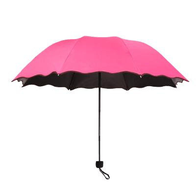 乾越(qianyue)雨傘折疊傘黑膠防曬防紫外線晴雨傘兩用男女遮陽傘少女心ins太陽傘小清新