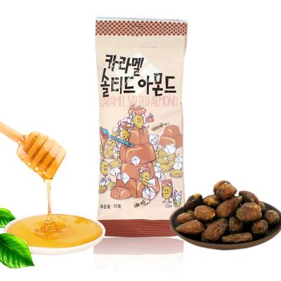 韓國進口Tom's Farm湯姆農場焦糖味鹽焗扁桃仁堅果果干35g袋裝休閑堅果零食