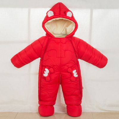 雪千寻冬季婴儿棉加厚连体衣外出服哈衣防风包脚爬服儿抱被睡袋