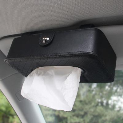 洛瑪 車載車用紙巾盒 汽車創意遮陽板掛式天窗椅背抽紙盒 單個裝
