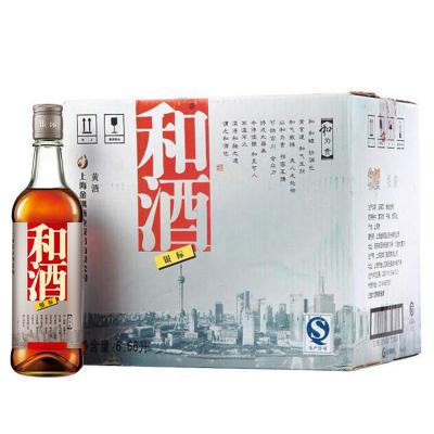 [和酒旗艦店] 和酒 黃酒 上海老酒 銀標半干型黃酒 555ml*12瓶裝 整箱