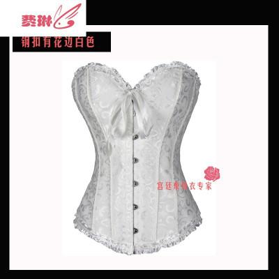 長短款束胸托新娘束身衣衣婚紗宮廷塑身衣上衣緊身胸衣corset 費琳