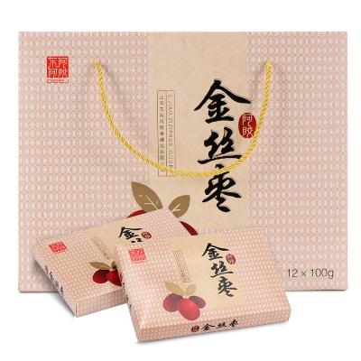 【東阿阿膠官方旗艦店】無核阿膠金絲棗蜜棗100g*12盒 送禮禮盒裝