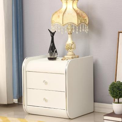 皮质床头柜 简约现代欧式软包迷你卧室实木色人造板 其他储物收纳小柜 整装 带抽屉 带储物 可移动