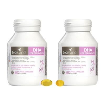 Bio island佰澳朗德孕婦DHA海藻油 60粒*2瓶 孕期哺乳期營養品