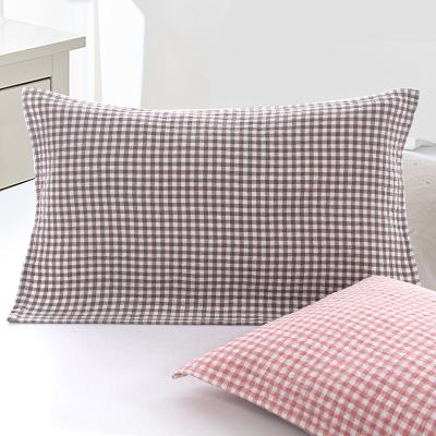 圖強純棉紗布枕巾一對 日式成人情侶男女學生透氣舒適全棉枕頭巾