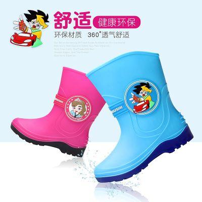 2019兒童雨鞋男童女童寶寶雨靴卡通公主防水防滑加絨小孩學生中童水鞋