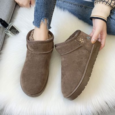 雪地靴女冬季新款加厚短靴短筒棉鞋保暖百搭学生加绒棉靴女面包鞋 莎丞