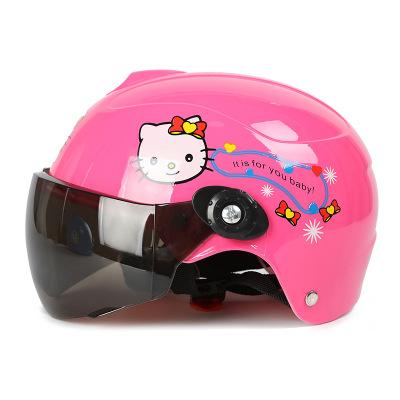 友用行兒童頭盔哈雷頭盔安全帽男女童通用夏季頭盔防曬防護電動車頭盔