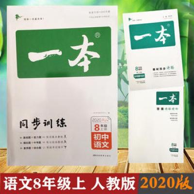 2020版一本初中语文八年级同步训练上册 RJ人教版 初中生中考语文辅导练习题 初三8年级语文上册