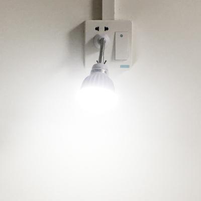 插电式人体感应灯led红外线洗手间夜灯楼道卫生间走廊过道节能灯 弯管5W插口白光