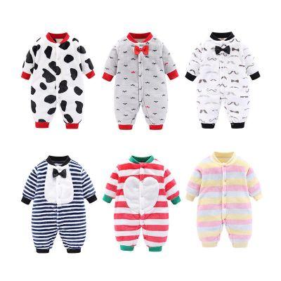 搭啵兔婴儿衣服春秋款男女宝宝哈衣0-1-2岁婴儿连体衣儿家居爬爬服
