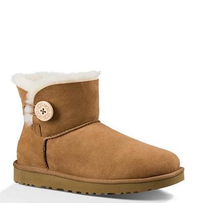 【直營】UGG(UGG) MINI BAILEY BUTTON II 貝莉紐扣2.0女士短筒保暖雪地靴女靴1016422