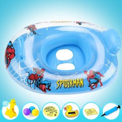 兒童寶寶游泳圈游泳艇坐圈 兒童1-3歲充氣游艇浮圈 座圈嬰兒游泳圈