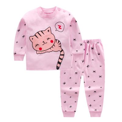 口袋虎0至13歲秋冬季新品兒童內衣套裝男童女童秋衣秋褲嬰幼兒打底衣睡衣套裝