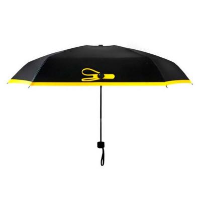 【滿2件減5元】秀凈 創意袖珍黑膠五折傘口袋傘折疊太陽傘