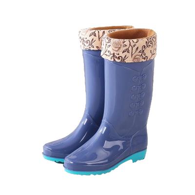 雨鞋女士高筒中筒牛筋底防滑防水鞋女式长筒短筒时 尚胶鞋 威珺