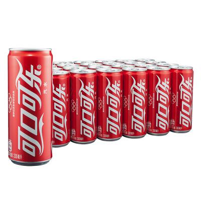可口可乐(Coca-Cola)Sleek Can 330ml*24罐 整箱装