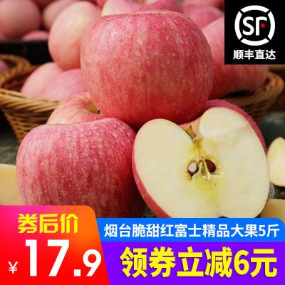 【顺丰直达】烟台红富士苹果水果 精品大果5斤装 脆甜大苹果 新鲜苹果苏宁生鲜