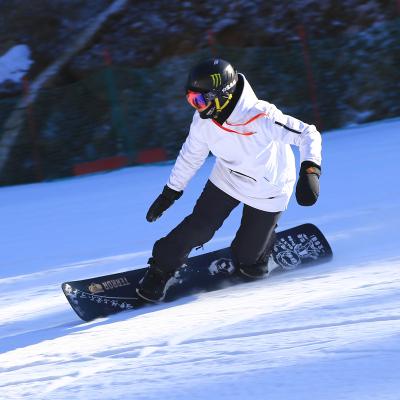 魅扣 男女中長款軟殼滑雪服單板滑雪衛衣套頭帽衫防水10000