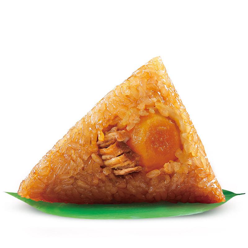 嘉兴五芳斋粽子早餐食品 真空140克*2只蛋黄鲜肉粽棕子