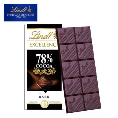 瑞士莲特醇排装78%可可黑巧克力