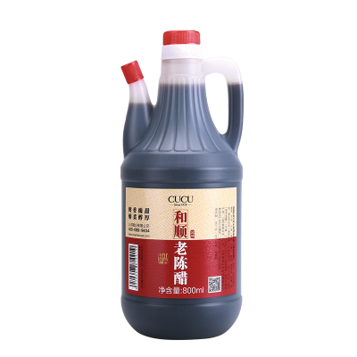 CUCU 醋 和順老陳醋800ml 山西陳醋 固態發酵 糧食釀造