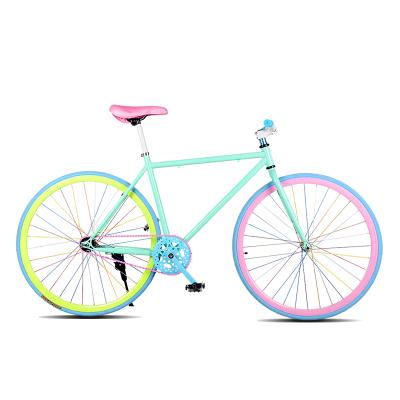 山思死飛自行車24寸26寸活飛倒剎死飛車30寬刀圈男女款學生單車