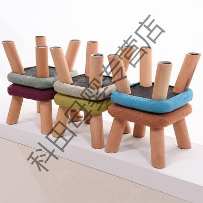小方矮凳子 布艺沙发 凳 时尚蘑菇凳家用凳子板凳椅子儿童凳子应学乐
