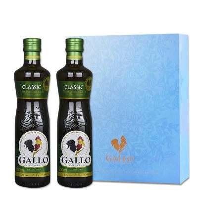 GALLO橄露公鸡橄榄油 精选特级初榨橄榄油 葡萄牙原装原瓶进口食用油500ml*2瓶 礼盒装