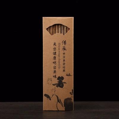 創意日式天然雞翅木 家用原木筷子無漆無蠟 10雙筷子禮盒裝特價