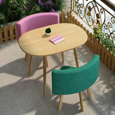 時尚洽談桌椅組合店鋪接待休息區小戶型陽臺休閑桌椅組合一桌兩椅哇哎哩