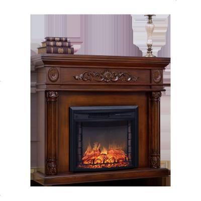 檀星星壁爐1.2米壁爐柜 白色實木 美式客廳壁爐架 歐式壁爐取暖