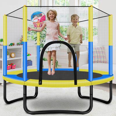 跳跳床蹦蹦床家用兒童室內寶寶彈跳床小孩成人帶護網家庭玩具跳跳床閃電客