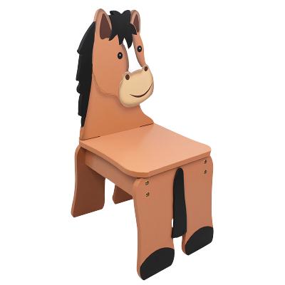 TEAMSON 紛朵奇主題兒童房創意農莊馬木質靠背椅子