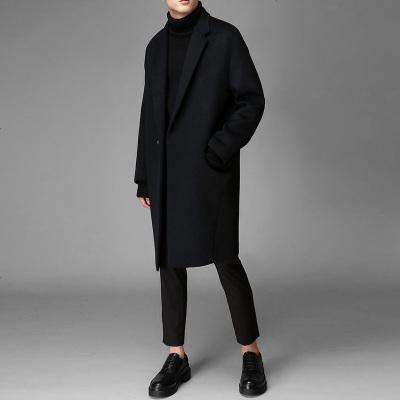 风衣男中长款冬季加厚妮子潮流秋冬季羊毛呢子外套潮毛呢大衣