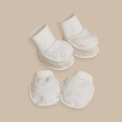 棉花堂新生兒護手套防抓臉春秋新品男女寶寶純棉手腳套嬰兒用品3820