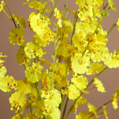 時尚客廳臥室假花仿真花卉裝飾餐桌干花整體花藝仿真擺設品跳舞蘭