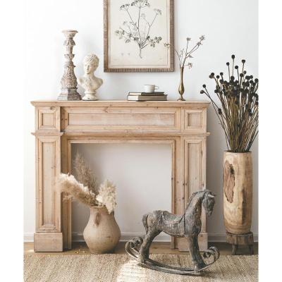 森美人潤家家居歐式實木復古壁爐婚禮布置裝飾柜架子擺設臺時尚裝修家具