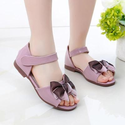 2020新款女童童涼鞋兒童涼鞋女孩學生中大韓版夏季時尚軟底公主鞋