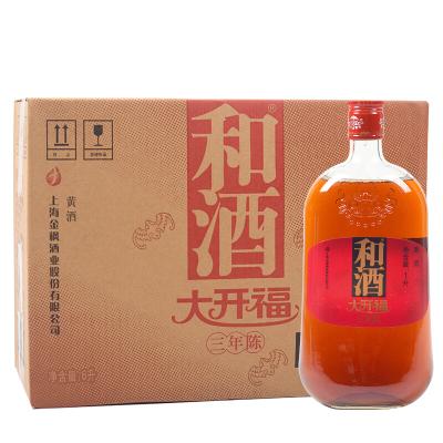 [和酒旗艦店] 和酒 黃酒 上海老酒 大開福三年陳 3年陳釀 營養黃酒1000ml*6瓶裝整箱