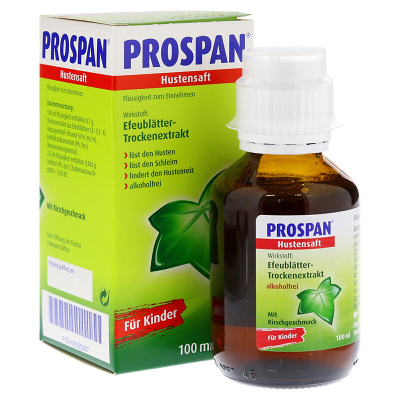 德國原裝進口Prospan小綠葉嬰兒兒童成人止咳糖漿止咳水清肺化痰100ml 適用于干咳