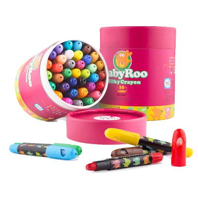 JoanMiro美樂兒童蠟筆安全無毒可水洗畫筆套裝彩筆幼兒園彩色旋轉蠟筆寶寶畫畫24色嬰兒繪畫涂鴉筆炫彩棒水溶性36色