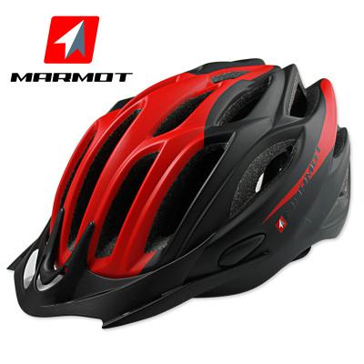 MARMOT土撥鼠騎行頭盔一體成型男女山地自行車頭盔騎行裝備安全帽