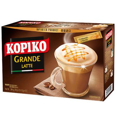印尼原裝進口kopiko可比可拿鐵咖啡意式三合一咖啡粉 速溶咖啡提神沖飲24盒裝可比克咖啡