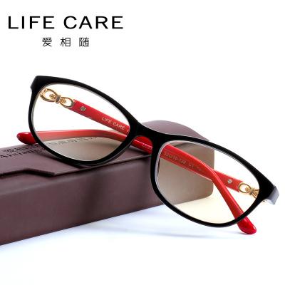 爱相随(Aixiangsui) 防蓝光老花镜 女防疲劳 时尚轻盈高清老人轻薄舒适眼镜男 5937