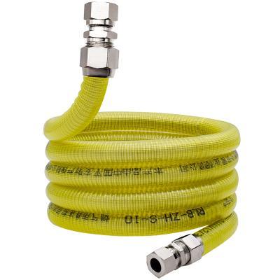 今安 304不锈钢燃气管天然气管波纹管家用燃气灶连接管防爆金属煤气管波纹软管 燃气热水器灶具防爆管 1米通用接头