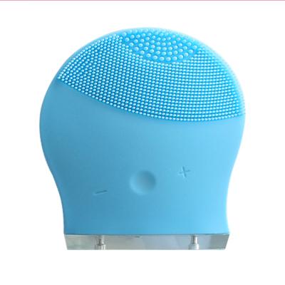 梵顏 超聲波充電潔面儀毛孔清潔器硅膠按摩洗臉儀深層清潔 聲波潔面儀器(天空藍)